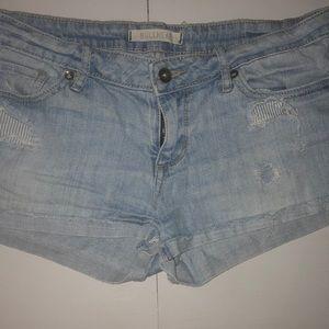 Bullhead distressed shorts- size 7